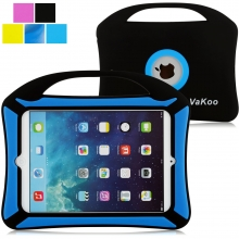 VAKOO iPad Mini Case, iPad Mini 3 2 1 Case Kids Proof Shockproof Drop Proof Soft Silicone Portable Light Weight Handle Case Cover for iPad Mini 3, iPad Mini Retina Display and iPad Mini (Black, Blue)
