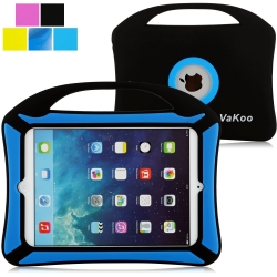 iPad Mini Case, VAKOO® iPad Mini 3 2 1 Case Kids Proof Shockproof Drop Proof Soft Silicone Portable Light Weight Handle Case Cover for Apple iPad Mini(Black)