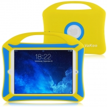 VAKOO iPad Mini Case, iPad Mini 3 2 1 Case Kids Proof Shockproof Drop Proof Soft Silicone Portable Light Weight Handle Case Cover for iPad Mini 3, iPad Mini Retina Display and iPad Mini (Yellow, Blue)