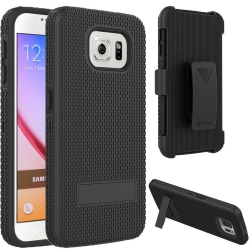 Vakoo Galaxy S6 Case Hybrid Hard Shell Armor Stand Cover