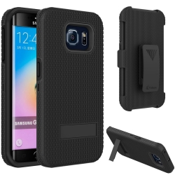 Vakoo Galaxy S6 Edge Case Hybrid Hard Shell Armor Stand Cover