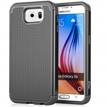 Vakoo Samsung Galaxy S6 Case Armor Protective Hybrid Matte Hard Cover Cases