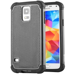 S5 Case, Galaxy S5 Case, Vakoo Armor Tough Raised Edge High Impact Silicone Bumper Slim Fit Case for Samsung Galaxy S5 – Black