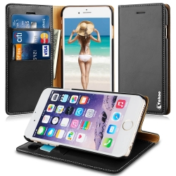 VAKOO Premium PU Leather Wallet Case Cover For Apple iPhone 6 Plus/6S Plus