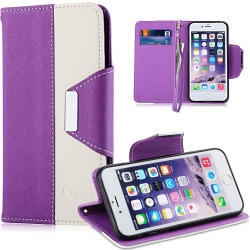 VAKOO iPhone 6/6S Plus (5.5) Cover Case PU Leather Folio Wallet Cases