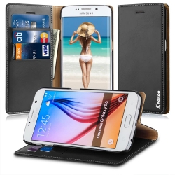 VAKOO Premium PU Leather Wallet Case Cover For Samsung Galaxy S6