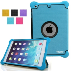 iPad Mini Case, VAKOO iPad Mini 3 / iPad Mini 2 / iPad Mini Folio Slim Fit Leather Flip Stand Case Magnetic with Smart Cover Auto Sleep / Wake Feature