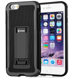 Vakoo iPhone 6/6S Case Slim Hybrid Protective Hard Shell Stand Cover TPU Bumper Cases