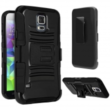 VAKOO Samsung Galaxy S5 Case Heavy Duty Rugged Soft Silicone Dual Layer Holster Armor Case