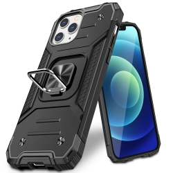 Vakoo Armor Series Phone Case for iPhone 12 Case / iPhone 12 Pro Case, Black