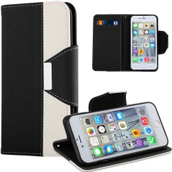VAKOO Double Colors Leather Wallet Case Cover for iPhone 6/6s