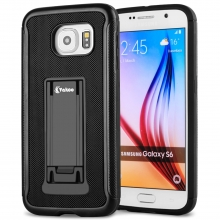 Vakoo Samsung Galaxy S6 Case Slim Hybrid Protective Hard Shell Stand Cover