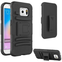 VAKOO Galaxy S6 Case Shockproof Drop Proof Dual Layer Rugged Soft Silicone Holster Pouch Case